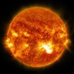 Sun flares - Image credit NASA