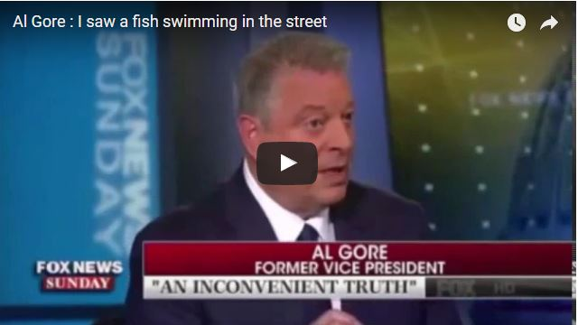 "Al Gore confuses TIDES with global warming ocean rise apocalypse, claims fish are ""swimming in the streets"" of Miami due to climate change"